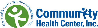 "Community Health Center, Inc. logo. ""Where health care is a right, not a privilege, since 1972"""